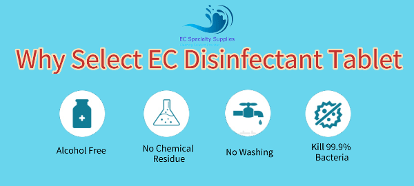 Characteristic of EC Disinfectant Tablet