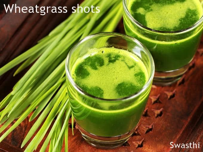 Wheatgrass juice extraction